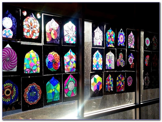Stained GLASS WINDOW Art Lesson Elementary design pictures