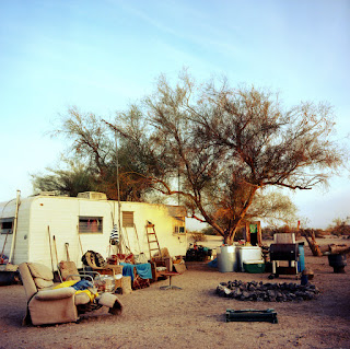 Autocaravana en Slab City