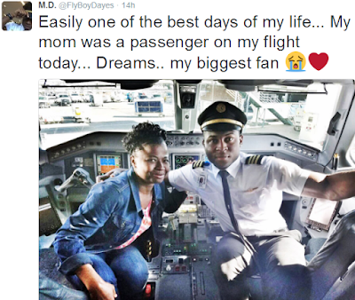 "TOUCHING PHOTOS OF A YOUNG PILOT WHO FLEW HIS MOTHER - ""ONE OF THE BEST DAYS OF MY LIFE"