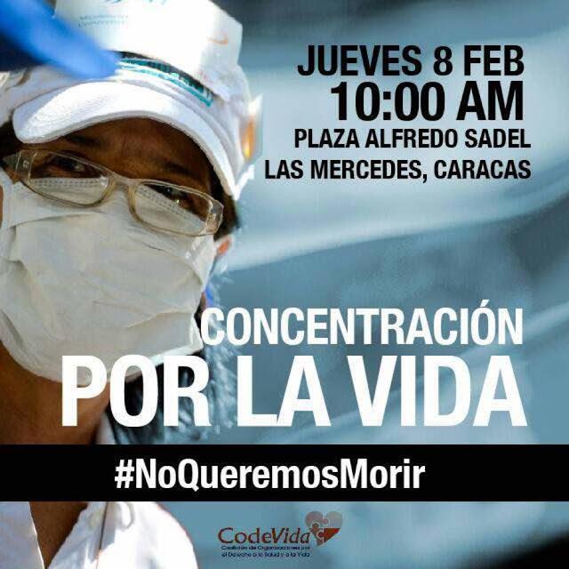 Codevida convocó una concentración para exigir insumos médicos