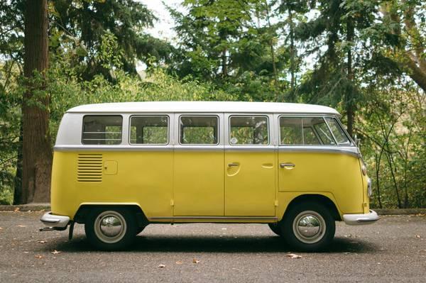 1965 vw bus 13 window yellow deluxe vw bus for 20 window vw bus
