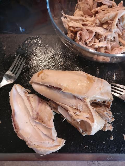 Pulled Chicken aus dem Crockpot