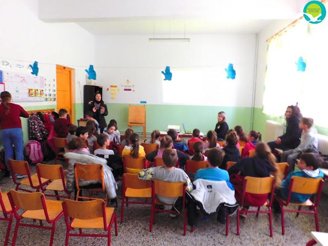 Επίσκεψη του Φορέα Διαχείρισης στο δημοτικό σχολείο Πέρδικας