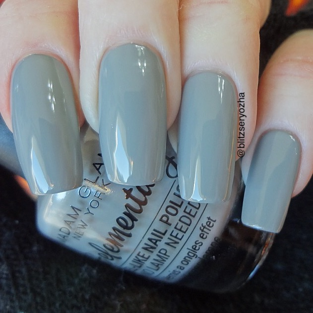 Madam Glam Souvenirs, a light grey creme polish
