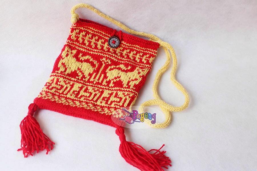 Ajeng Belajar Merajut Rajut Free Knitting Pattern Medieval Pouch