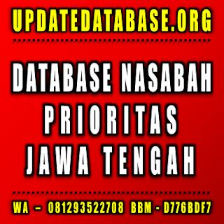Jual Database Nasabah Jawa Tengah