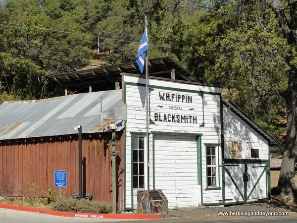 blacksmith building in Rough and Ready, California