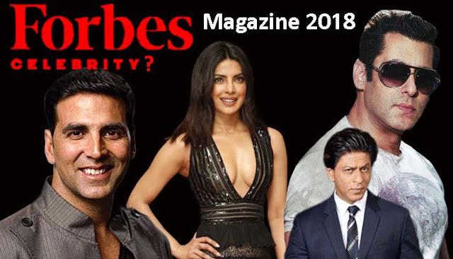 Bollywood-star-celebrity-ranks-1st-on-Forbes-magazine-highest-earning-list,forbes magazine, Forbes magazine India, top 100 richest people in India, top star celebrity richest person in India 2018, Forbes India magazine star celebrity 100 list