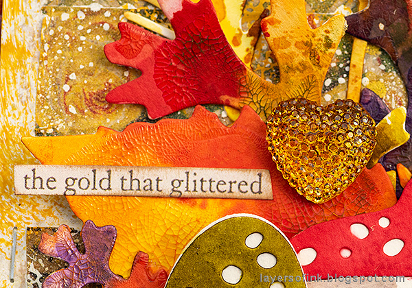 Layers of ink - Embossed Acetate Autumn Tag Tutorial by Anna-Karin Evaldsson, with gumdrop hearts