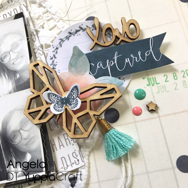 Partner in Crime Scrapbook Layout by Angela Tombari For Yuppla Craft DT