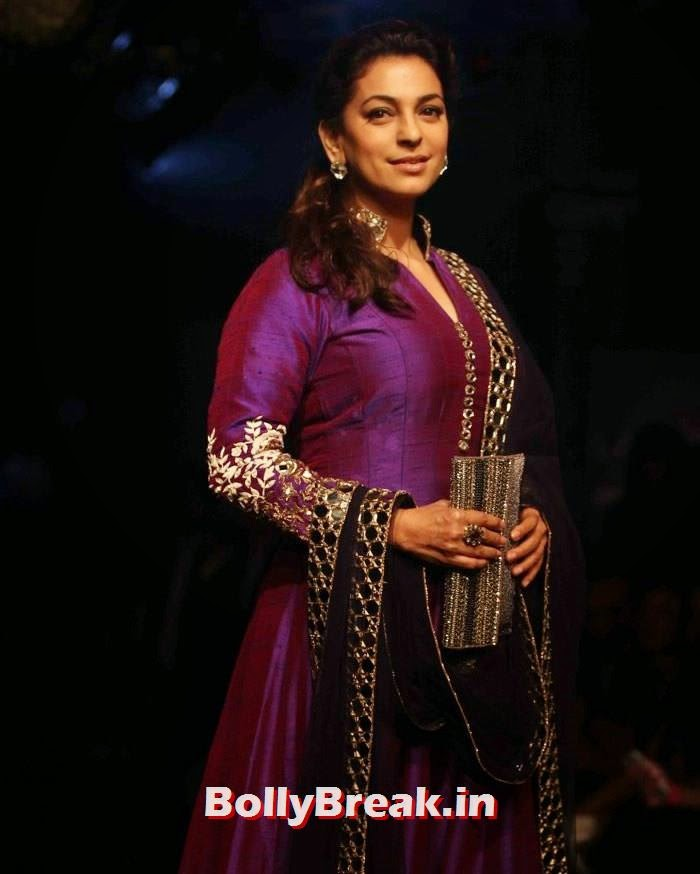 Juhi Chawala, Pics of Manish Malhotra Show at Lakme Fashion Week 2014