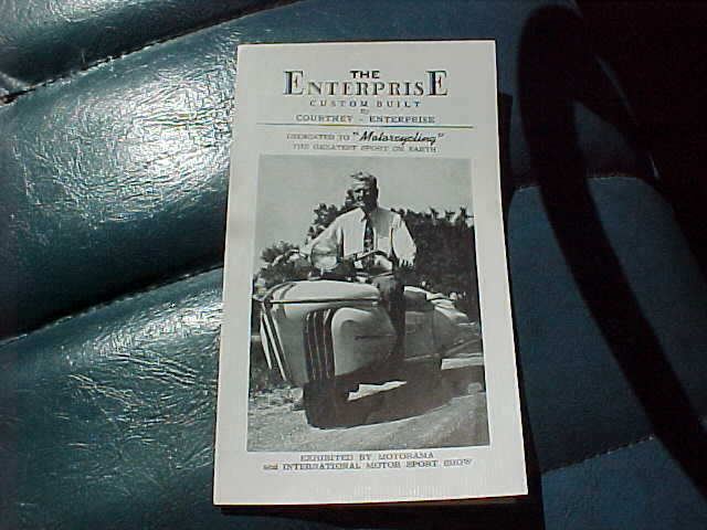 1952 Courtney Enterprise motorcycle brochure