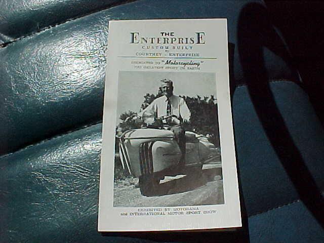1952 Courtney Enterprise motorcycle brochure