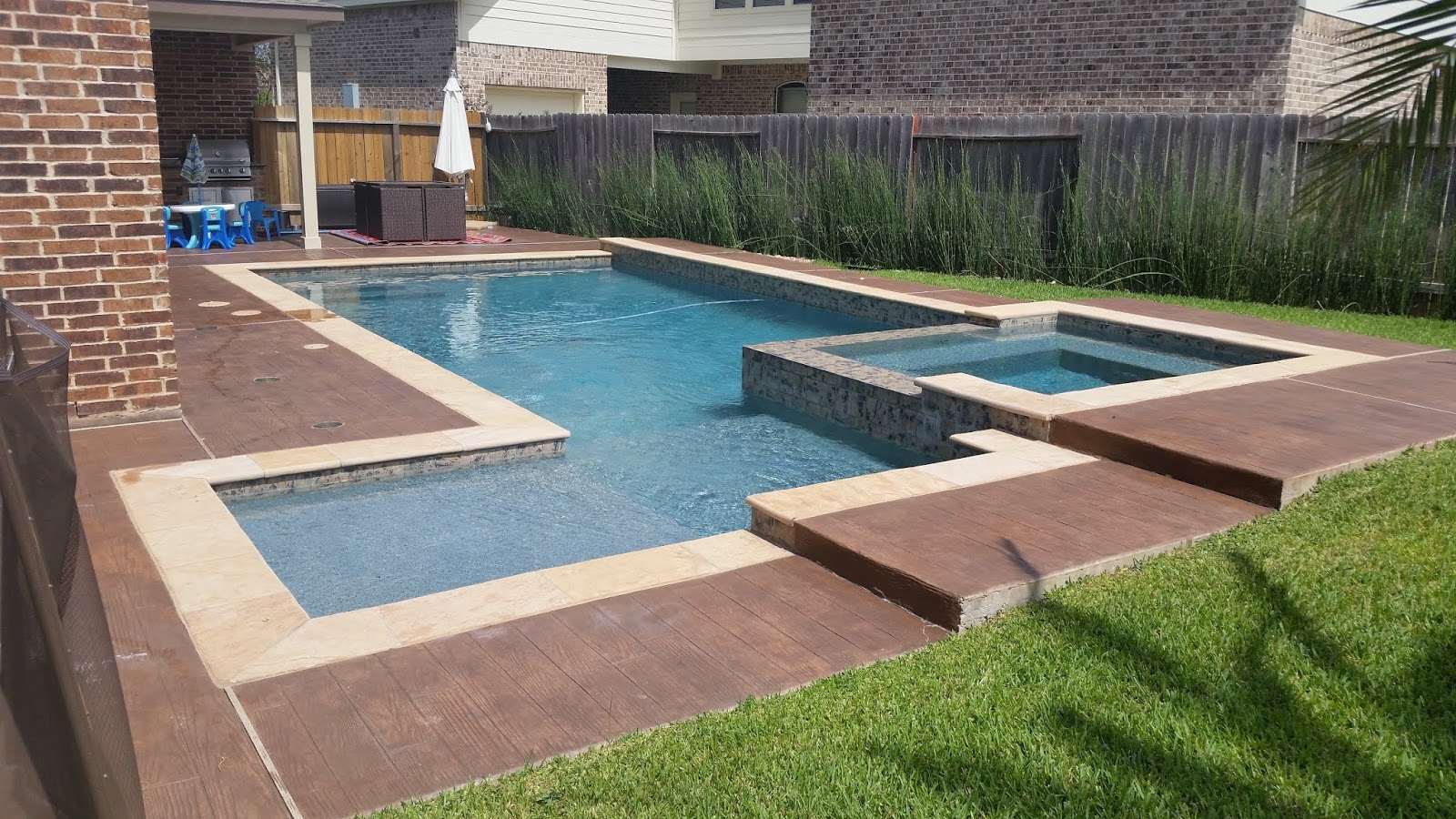 Custom Geometic Inground Pool Builder DFW 1