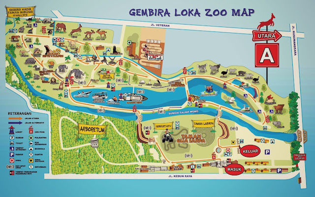 Gembiraloka Zoo map