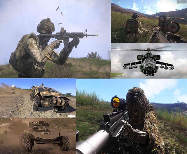 sujestões de jogos fps: arma 3