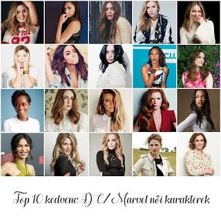 Top 10 kedvenc DC/Marvel női karakterek