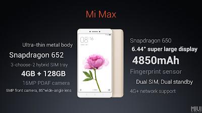 Xiaomi Mi Max Specs