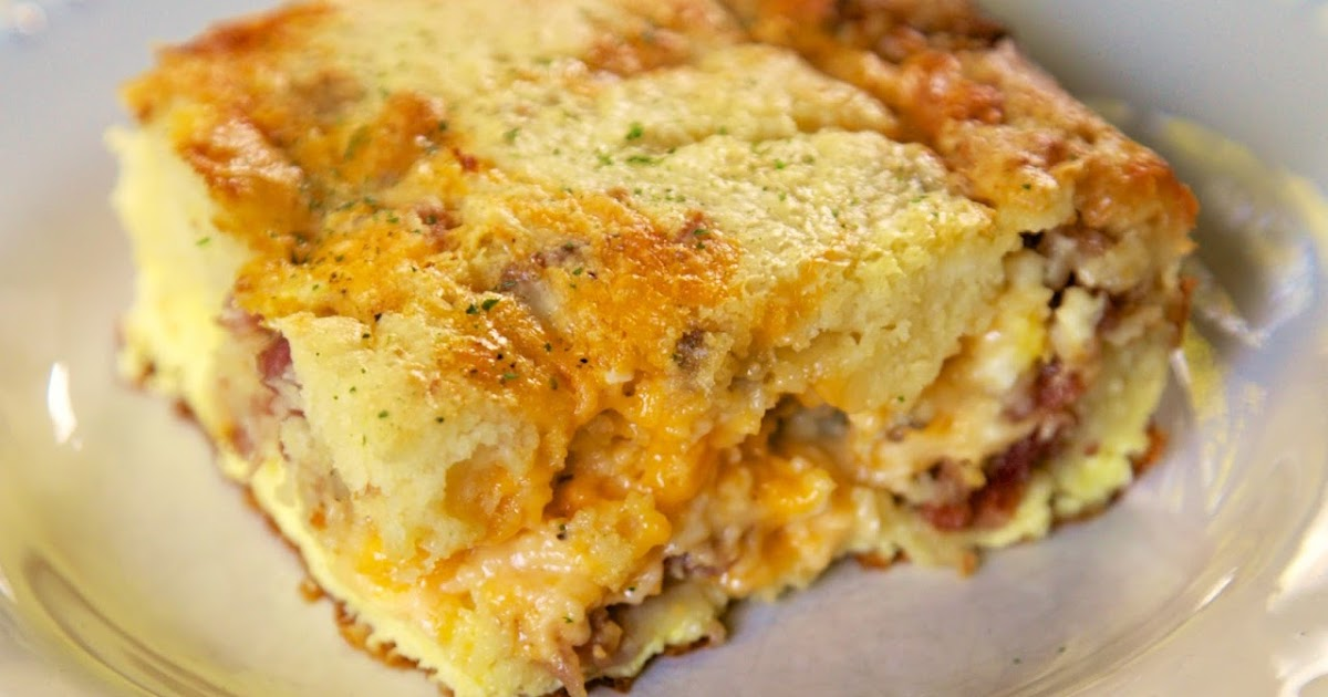 Meat Lovers Puff Pancake Breakfast Casserole | Plain Chicken