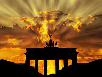 Закат на фоне арки