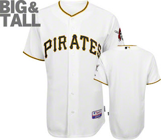 Big and Tall Pittsburgh Pirates Home White Jersey