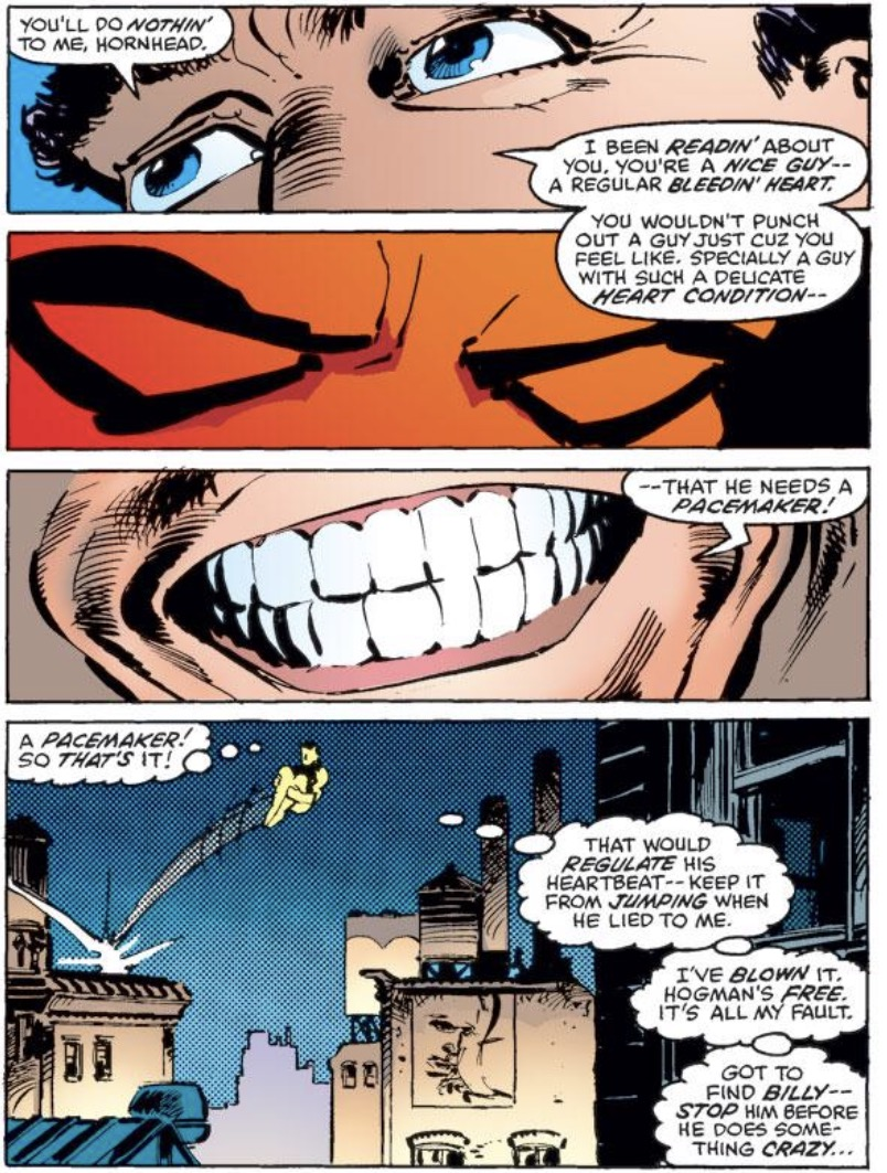 But I Love Millers Resolution To The Punisher Aspect Of This Story From Get Go Daredevil Adopts An Unflinching Zero Tolerance Policy For Guy