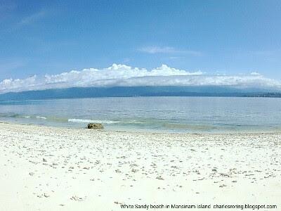 Mansinam island white sandy beach