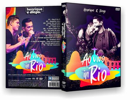 CAPA DVD – Henrique & DiegoAo Vivo In Rio – DVD-R