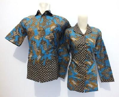 Model Baju Batik Seragam untuk Guru