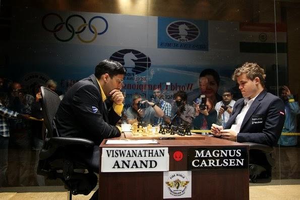 Game 6 - Viswanathan Anand vs Magnus Carlsen   FIDE World ...