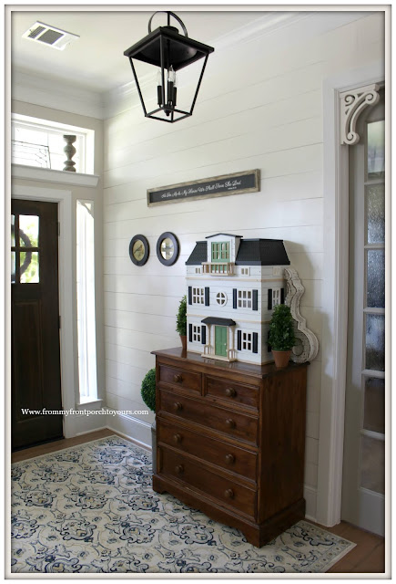 Cottage- Farmhouse- Foyer-Shiplap-Doll House-From My Front Porch To Yours