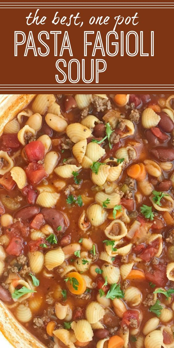 Amazing Pasta Fagioli Soup