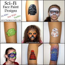 sci fi star wars dr who teenage mutant ninja turtles face painting