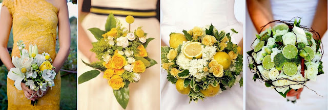 свадебный букет из цитрусов фото