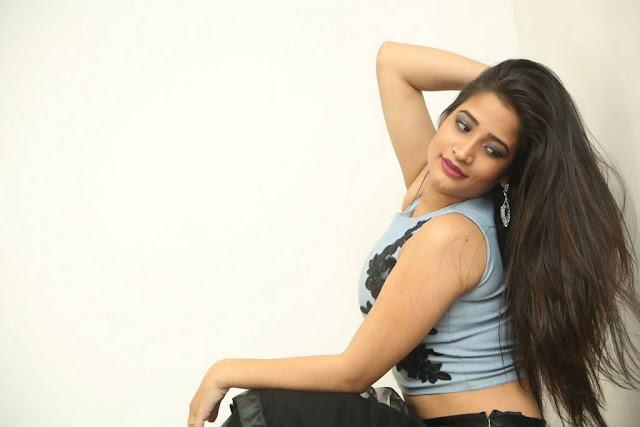 Santoshi Sharma Stills At HBD Movie Pre Release Event