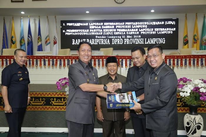 Rapat Paripurna  DPRD Provinsi Lampung Pjs Gubernur Lampung Menyampaikan LKPJ 2017