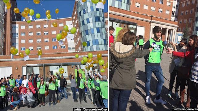 Lanzamiento de globos en el Día Internacional del Niño con Cáncer