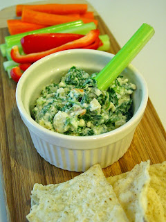 Light Spinach Dip from Soup Spice Everything Nice