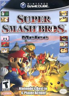Portada del disco de Tono 2 Super Smash Bros. Melee para Nintendo GameCube (2001)