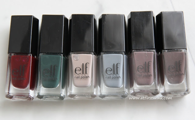 """neutral"" colors in the e.l.f. Essential 14-Piece Nail Cube - Jewel Tones"