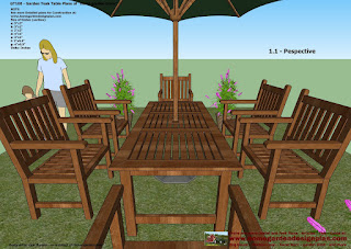1.1 garden teak table woodworking plans outdoor furniture plans free