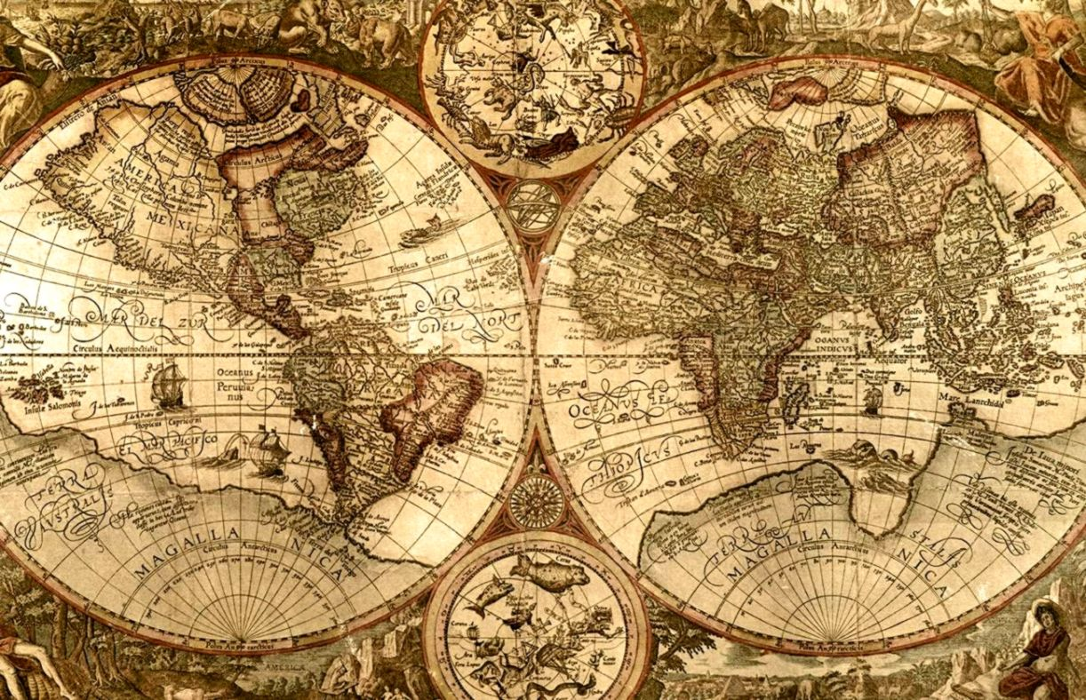 Antique Map Wallpaper   Wallpapers Titan