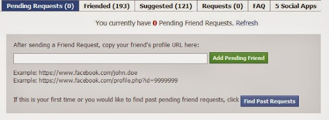 Find all your pending friend requests and details