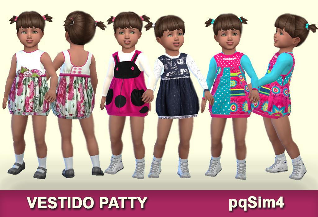 vestido patty. sims 4 custom content.