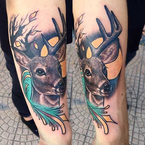 young deer tattoo