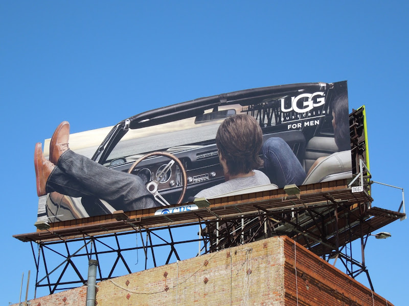 UGG Men car billboard