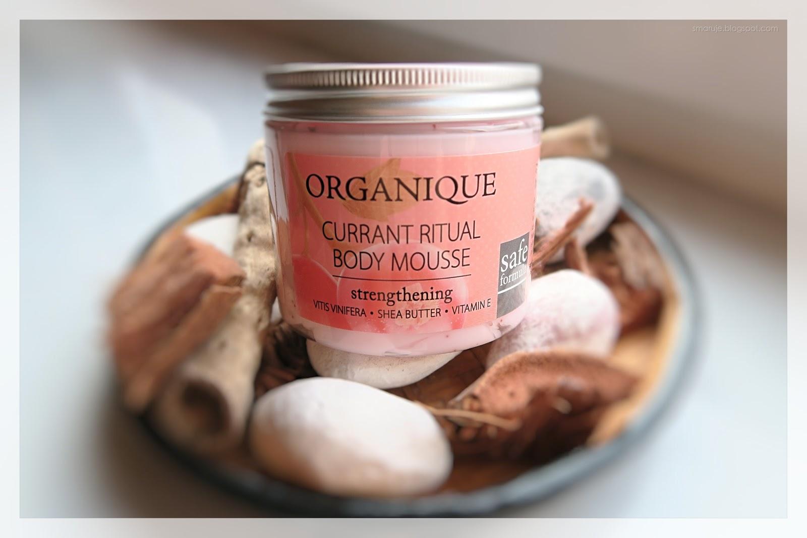Genialny na lato: Organique –Wzmacniający mus do ciała – Rytuał Porzeczkowy