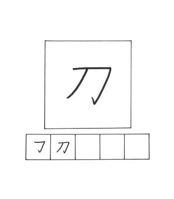 kanji pedang