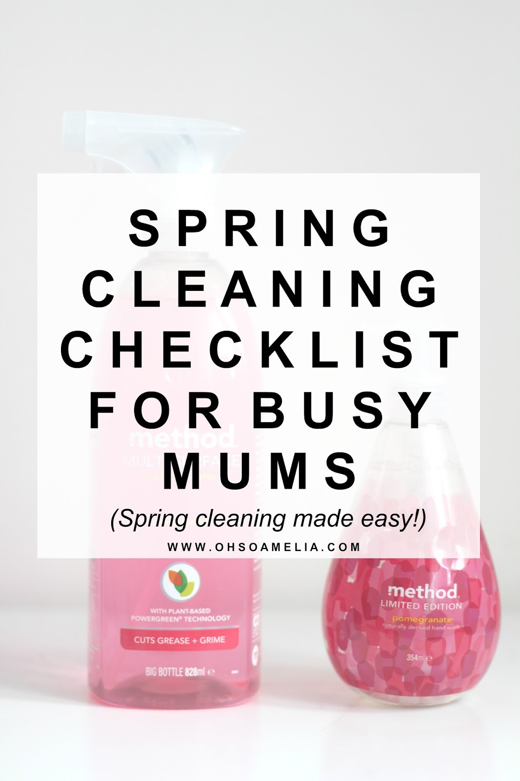 Spring Cleaning Checklist For Busy Mums- Spring Cleaning made easy!