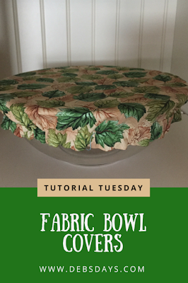 Homemade Fabric Bowl Covers Sewing Project